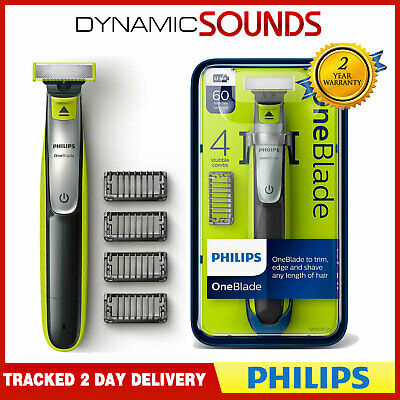 Philips One Blade QP2530 Rechargeable Li-Ion Shaver Trimmer 4 X Combs + Charger