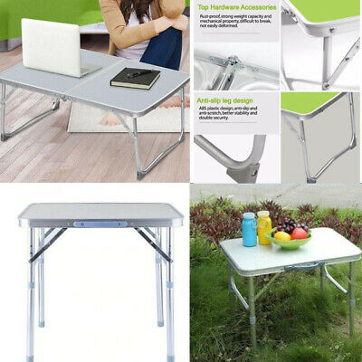 Folding Laptop Camping Picnic Table Party Kitchen Outdoor Garden BBQ Aluminum