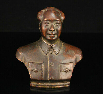 China Collectible Hand-Carved Retro Red Copper Chairman Mao Statue