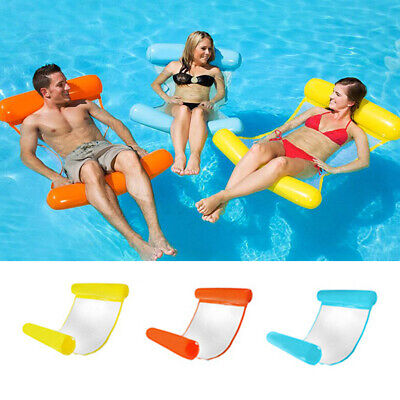 Swimming Bed Chair Inflatable Floating Water Hammock Float Pool Beach Lounge PVC