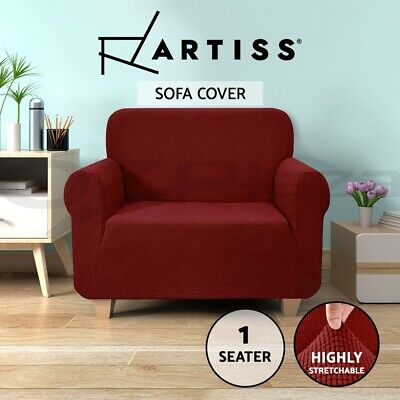 Artiss High Stretch Sofa Cover Couch Lounge Protector Slipcovers 1 Seater Chair