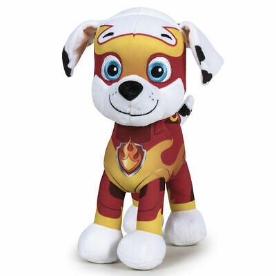 """New Official 12"""" Paw Patrol Mighty Pups Marshall Soft Plushtoy"""