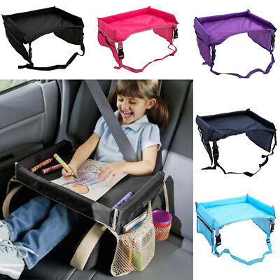 Safety Waterproof Snack Baby Car Seat Table Kids Play Travel Tray 5 Colours UK