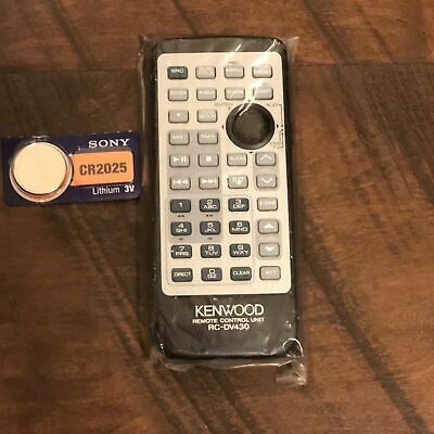 New Factory Original Kenwood RC-DV430 Audio Remote Control with Coin Battery