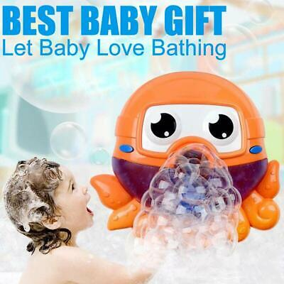Octopus Automatic Bubble Blower Blowing Maker Machine Musical for Kids Party