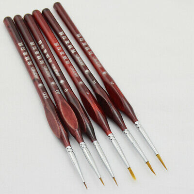 Extra Fine Detail Paint Painting Brushes Set of 6 Art Miniatures Model Maker