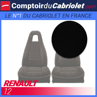 Lining of Front Seats in PU Black Renault R12 Phase 2