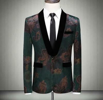 Mens Coat+Pants 2 Piece Suits One Button Dinner Tuxedo Wedding Casual Formal