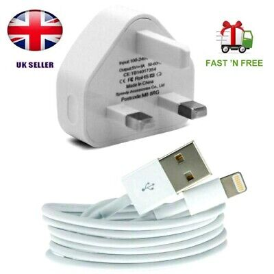 Genuine  Charger Plug & USB Cable for Apple iPhone 4,5,6,7,8,X,XS,XR