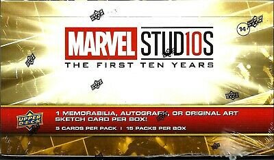 2019 Upper Deck Marvel Studios The First 10 Years Factory sealed Hobby Box