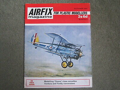Airfix Magazine Vol 11 No.2 Oct 1969. Flower Corvette, Firefly Mk.I, Ventura