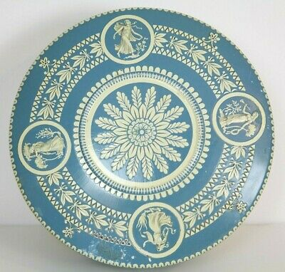 Vintage Holland Metal Enamel Tin Blue and White Color Layered Floral Women