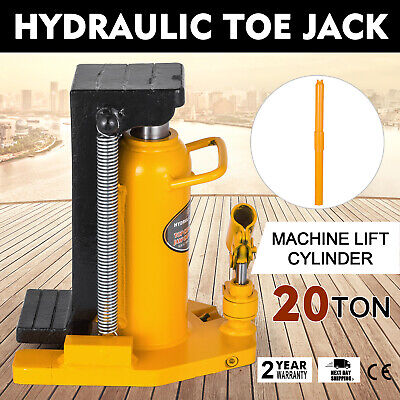 20 Ton Hydraulic Toe Jack Machine Lift Cylinder Warranty Replace Proprietary