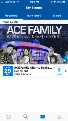 Ace Family Charity Basketball Event - 2 Tickets! **GREAT SEATS** GREAT PRICE!!