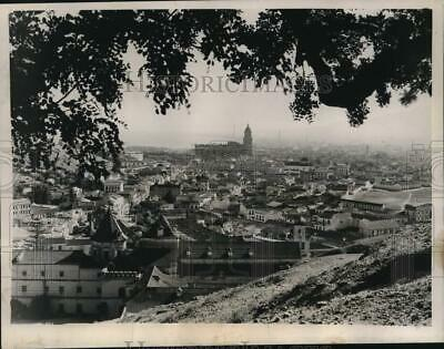 1936 Press Photo Overview of the City of Malaga in Spain - mjc44725