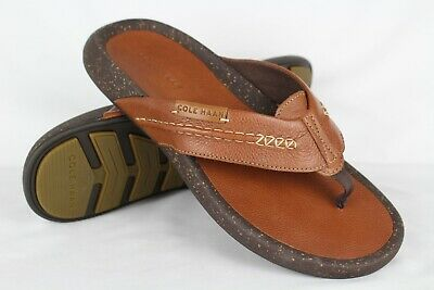 63f74c7d02 New Cole Haan Men's Brady Thong Sandal British Tan 8m Leather C27386