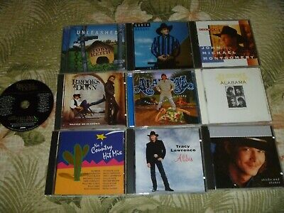 Lot 10 Cd Country Alabama Tracy Lawrence Garth Brooks Toby Keith Brooks & Dunn +