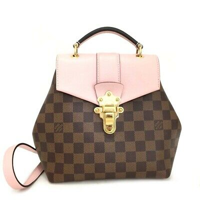 4e240cc1f2e04 2018 Louis Vuitton Damier Clapton 2way Backpack Hand Bag Magnolia Pink   pGDI x