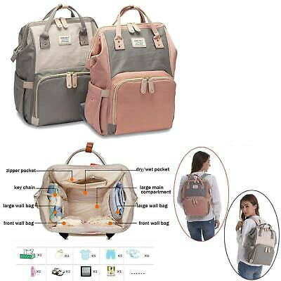 Large GENUINE LAND Multifunctional Baby Diaper Nappy Backpack Mommy Changing Bag