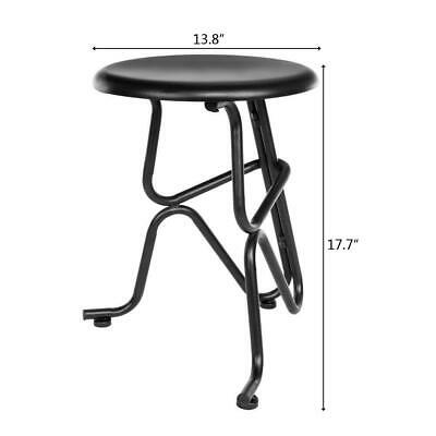 Vintage Bar Stool Industrial Iron Design Non-foldable Black