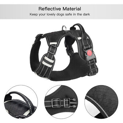 Reflective Huge Dog Anti Pull Pet Dog Harness Padded Large Heavy Duty Control