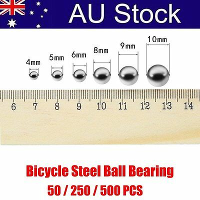 50/250/500PCS Replacement Parts 4/5/ 6/10mm Bike Bicycle Steel Ball Bearing cX