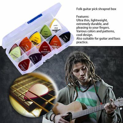 100X Acoustic Bulk Electric Smooth Guitar Pick Picks Plectrum 0.46mm 1Y