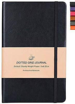 Dotted Grid Notebook/Journal - Dot Grid Hard Cover Notebook, Premium Thick Paper
