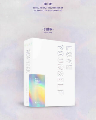 BTS WORLD TOUR LOVE YOURSELF NEW YORK BLU-RAY 2DISC+PhotoBook+2p Card+GIFT K-POP