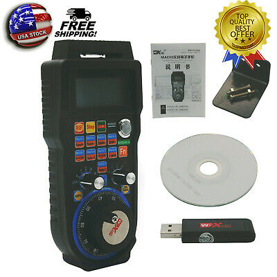 CNC MACH3 Wireless Electronic Handwheel 6-Axis Manual Controller USB MPG USA