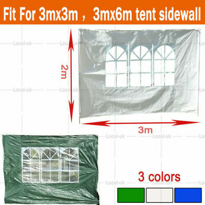 3X3M PE Garden Gazebo Marquee Canopy Awning Party Tent Fullsides Multi-color UK