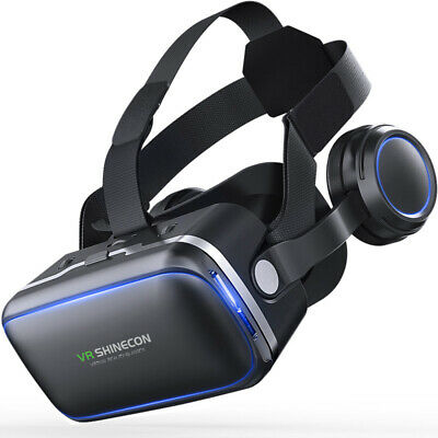 Virtual Reality Headset 360° VR Goggles Head-Mounted Bluetooth
