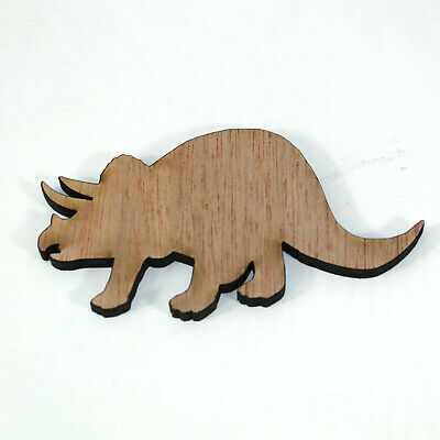 Triceratop dinosaur laser cut plywood shapes for craft making & decorating 100mm