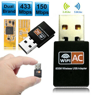 Dual Band 600Mbps USB 2.4G/5GHz Lan WiFi Adapter 802.11AC Wireless Network PC