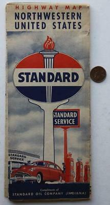1950s Standard Oil Red Crown Gas service station Northwestern United States map*