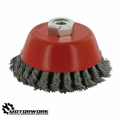 Angle Grinder 100Mm Double Row Twist Knot Steel Wire Bowl Cup Brush