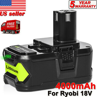 For Ryobi P108 Battery 18V 18 Volt One+ High Capacity 4Ah Li-ion P109 P104 P103