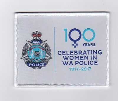Western Australia 100 Years Women in Policing 1917 - 2017 Patch (social)