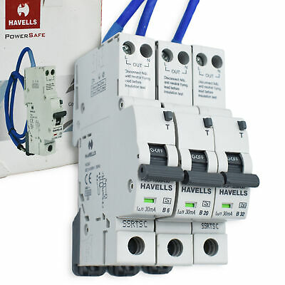 Havells Compact RCBO Type B HSM1 BR30 6 20 32 Amp Homesafe PRO 1P+N 30mA MCB