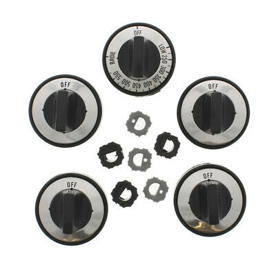 AquaPlumb RKG Gas Range Knob Replacement Set, 5pk, Black