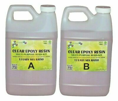 @Crystal Clear Epoxy Resin General Purpose Bar Table Top Coating - 2 Gallon Kit