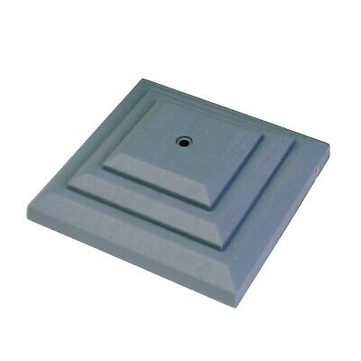 """Linic 5 x Grey 3"""" 75mm Plastic Fence Post Cap Top Finial UK Made. GT0043"""