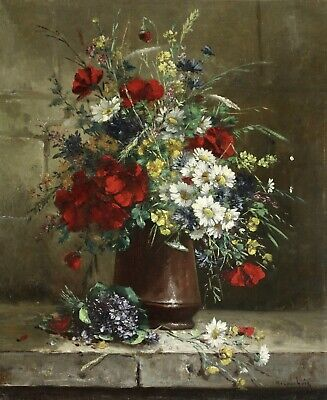 HENRI CAUCHOIS (1850-1911) SIGNED FRENCH IMPRESSIONIST OIL to £38,000 FLOWERS