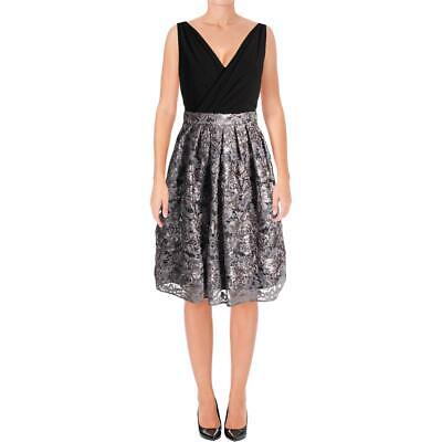 a07dde7b R&M Richards Womens Black Lace Sleeveless Special Occasion Dress 14 BHFO  7874