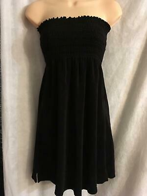 a256cff2d2118 JUICY Couture Short Summer Dress Smocked Size Medium M Swim Coverup Black  Terry