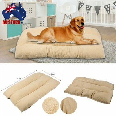 XL Large Dog Cat Mat Warm Soft Puppy Pets Bed Mattress Cushion Pillow Mat AU B7