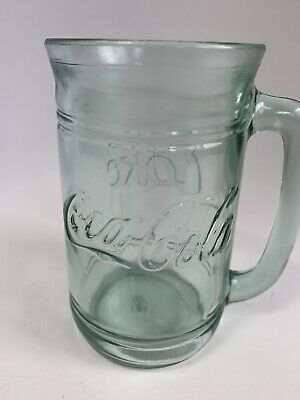 Coca Cola Collector's Mugs Coke Mugs Green Glass