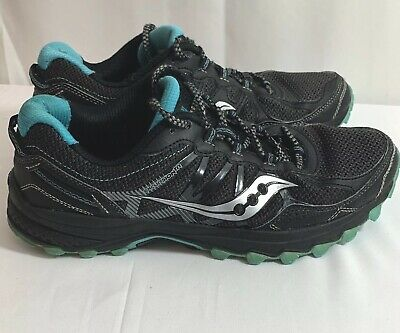 WOMENS SAUCONY EXCURSION TR Black Running Shoes s10392 2 Size 9.5M N397