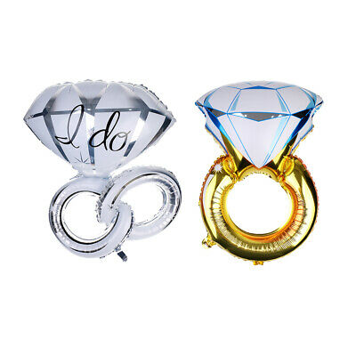 2pcs / Set Romantique Ring Foil Balloon Baby Shower Décor de fête