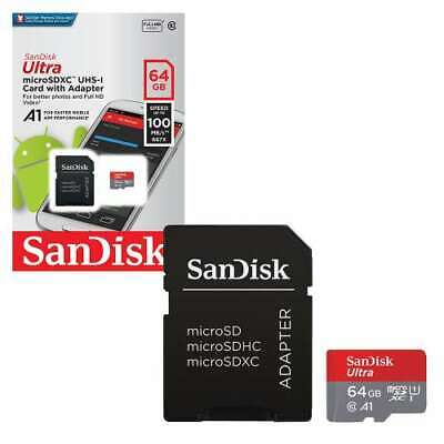 New SanDisk Class 10 Ultra 64GB 100MB/s Micro SD SDHC Memory Card UHS-I